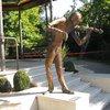 Набережная Опатии.Оригинальная скульптура скрипача