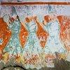 Ağaçaltı Kilisesi. Класичний сюжет візиту трьох мудрих царів. Але чомусь вони тримають у руках бубни, а не подарунки, до того ж їхній одяг виходить за межі іконографічних критеріїв.