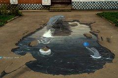 3D street арт Дельфины