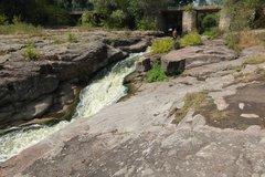 Каньон и водопады на реке Горный Тикич