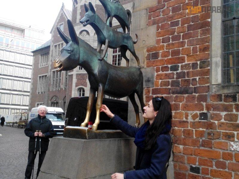 Памятник Бременским музыкантам в Бремене
